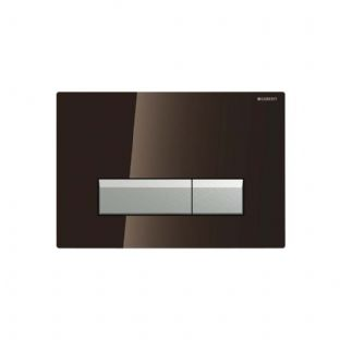 Geberit Sigma40 Umber Glass Odour Extracting Dual Flush Plate - 115.600.SQ.1